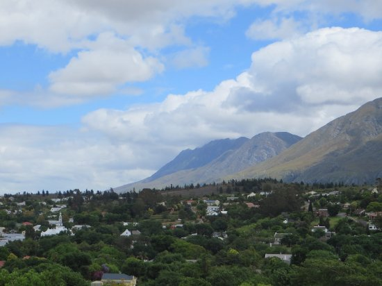 Swellendam, Sør-Afrika: View from our balcony