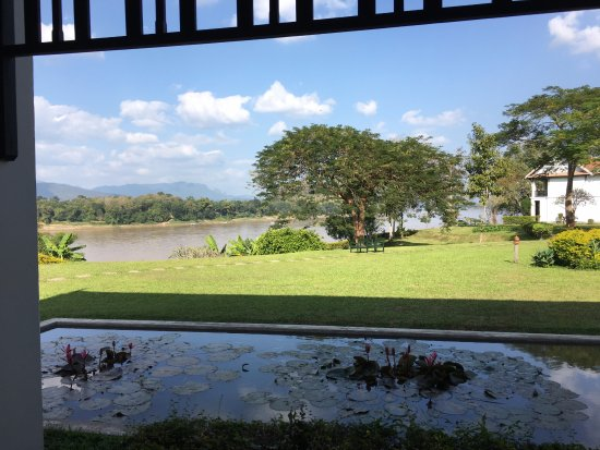 The Grand Luang Prabang Hotel & Resort: vue depuis notre chambre