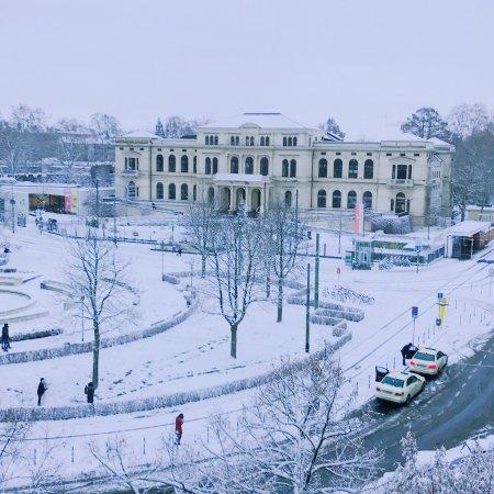 Frankfurt Under Snow Bild Von Zoologischer Garten