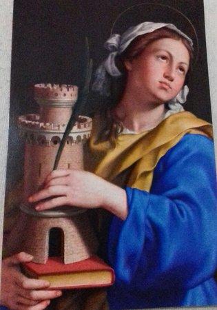 Sassoferrato, Italien: dipinto del salvi santa barbara.(museo di Perugia )