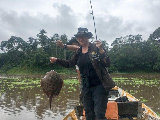 Quebrada Oran, Peru: Fishing!