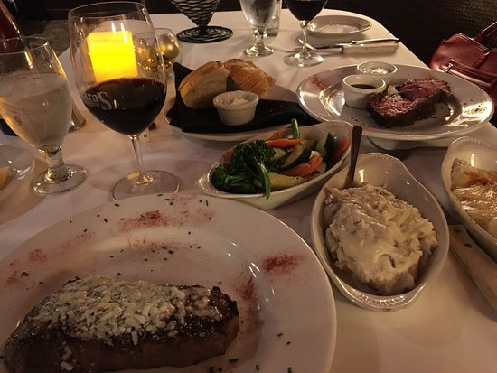 Dublin, CA: Entrees: Strip Steak and Prime with SIdes