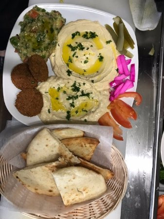 Ballston Spa, NY: Hummus and Falafel platter