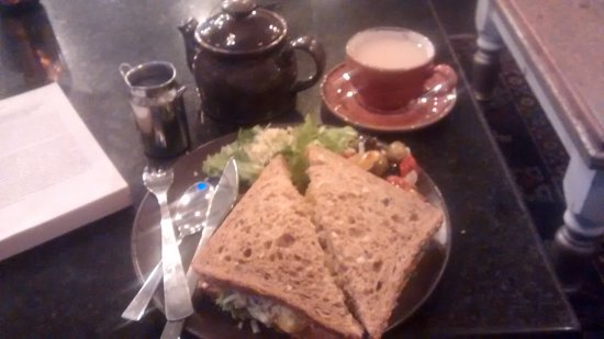 Armagh, UK: Sandwich and Lattee coffee.