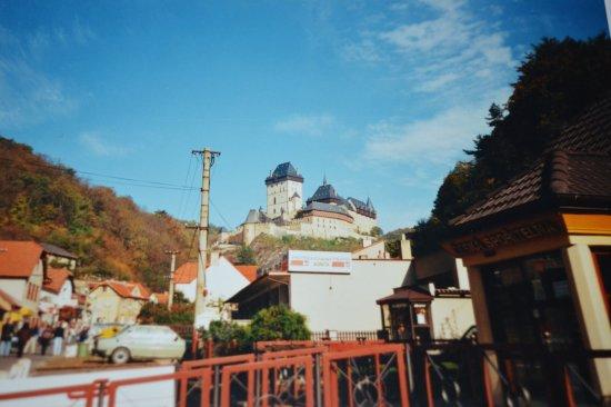 Karlstejn, República Checa: vue du chateau
