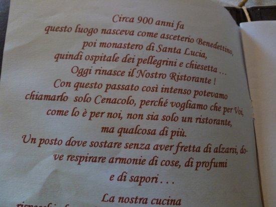 La prima pagina del men foto cenacolo santa lucia for Il cenacolo bagno di romagna