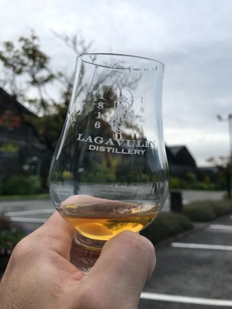 Craigellachie, UK: A dram of the local favorite, Glenfarclas in a glass from another of my favorites.