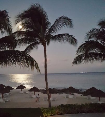 Presidente Inter-Continental Cozumel Resort & Spa : Full moon from our room