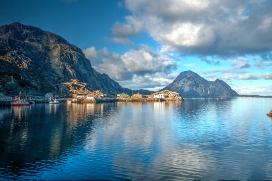 Leknes, Norway: View from the robuer.