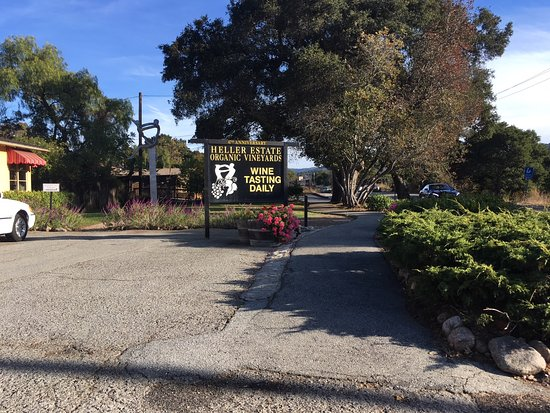 Carmel Valley, CA: Main sign and entrance from the street.
