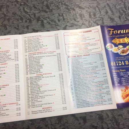 Scunthorpe, UK: New menu