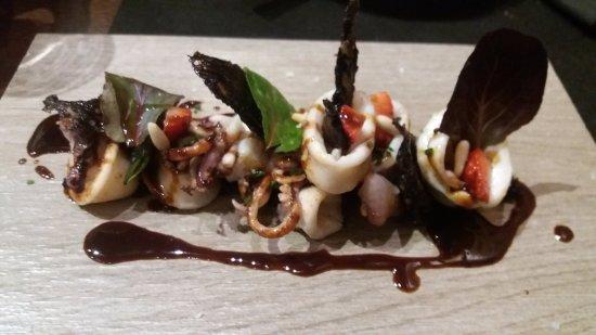 Sant Esteve de Palautordera, España: Calamar con butifarra negra