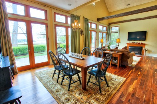Chestertown, Maryland: Carriage House downstairs showing living room, dining room and private patio