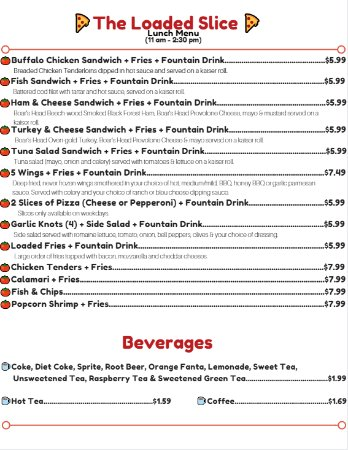 Holiday, FL: Dine-in Exclusive Lunch Menu