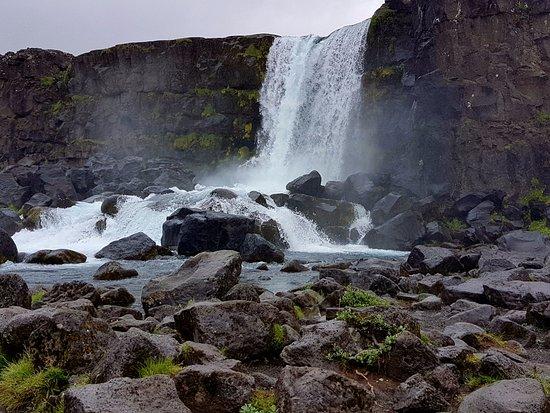 Thingvellir, İzlanda: Det vackra fallet över kanten