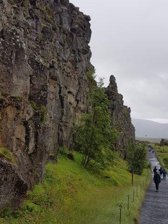 Thingvellir, İzlanda: Mer mur från jordskorpan