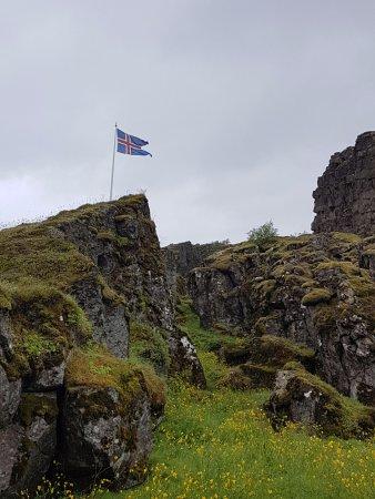 Thingvellir, İzlanda: Islands flagga