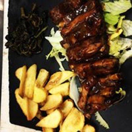 Montecorvino Pugliano, إيطاليا: Ribs (costine di maiale in salsa bbq