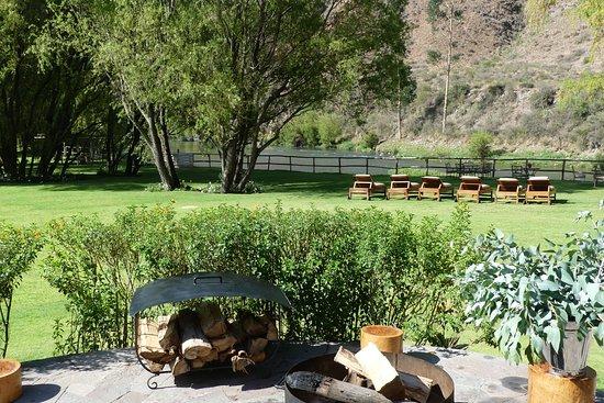 Belmond Hotel Rio Sagrado: View for restaurant patio