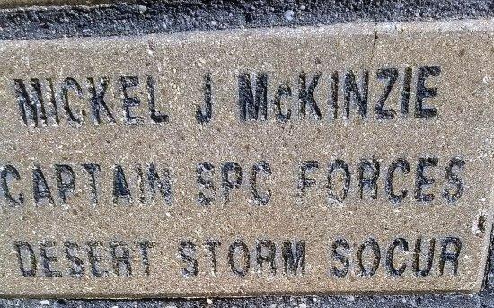Laurel, MS: Brick honoring Capt. McKinzie