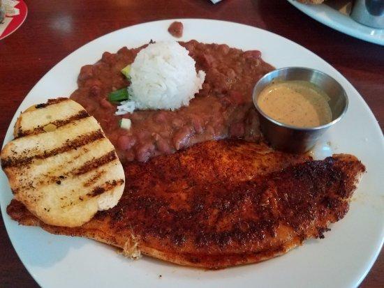 Festus, MO: Blackened catfish with red beans & rice