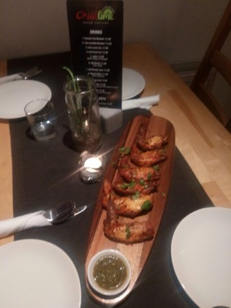 Chicken wings at Chilli Lime Restaurant, Camberley