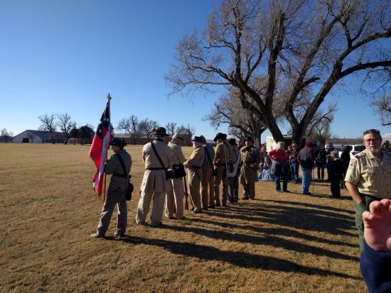 El Reno, OK: Reenactors at the firing of the Christmas Guns