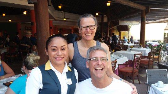 Levyi our amazing waitress at Iberostar Cozumel
