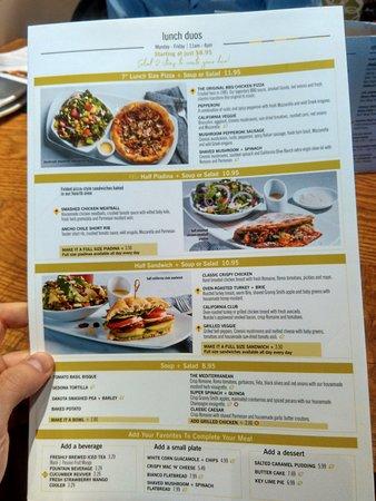 Menu California Pizza Kitchen Northbrook Resmi Tripadvisor