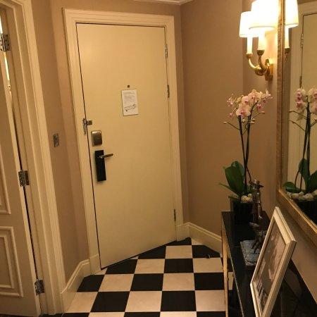 The Savoy: Deluxe Jr. Suite living, bedroom toilet bathroom and hallway