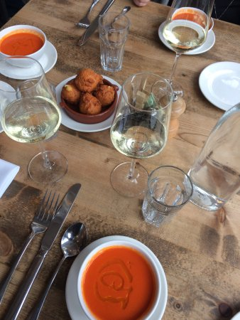 We Love The Tomato Soup And Gougeres Paired With White Eine