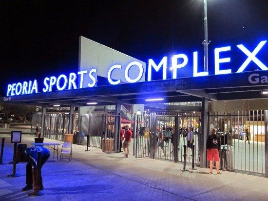 Peoria, Arizona: Night Entrance At Peoria