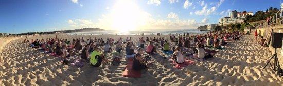 Encinitas, CA: Sunrise Beach Yoga Fluro Friday Bondi Beach Australia