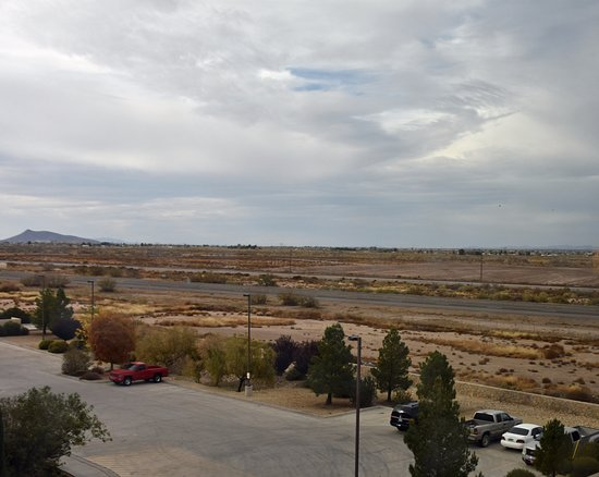 Deming, NM: I-10 ad train tracks from Suite 404