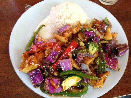 Blanco, TX: Chicken vegetable stir fry