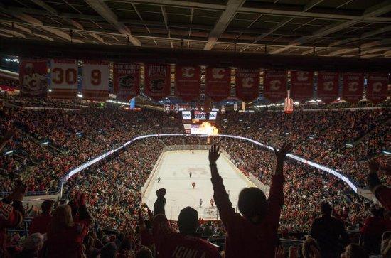Match de hockey des Flames de Calgary...