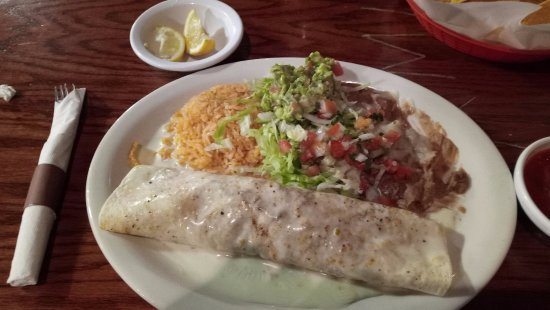Spring Hill, TN: Carne Asada Burrito with cheese sauce