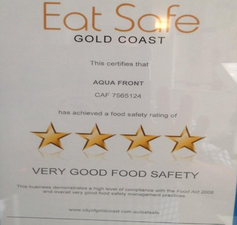 Labrador, Australia: Congratulations to our staff for this top rating.