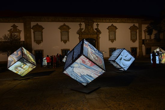 Lamego, Portugal: Outside the museum at night time