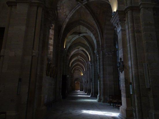 Langres, France : zijschip van de cathedraal (foto onder alias Drager Meurtant)