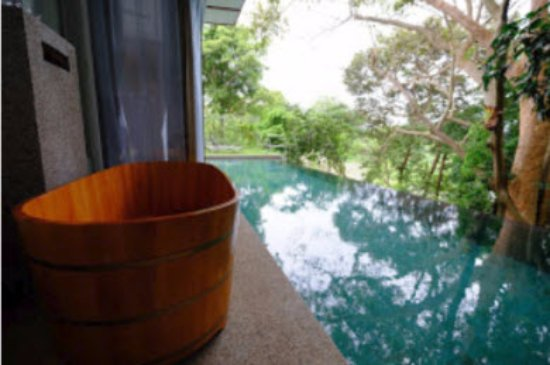 Langkawi District, Malaysia: Spoilt for choice: the tub or the pool?