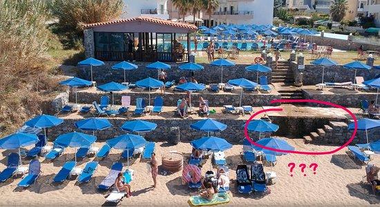 Krini Beach Hotel: Нет перил. Просто обрыв!