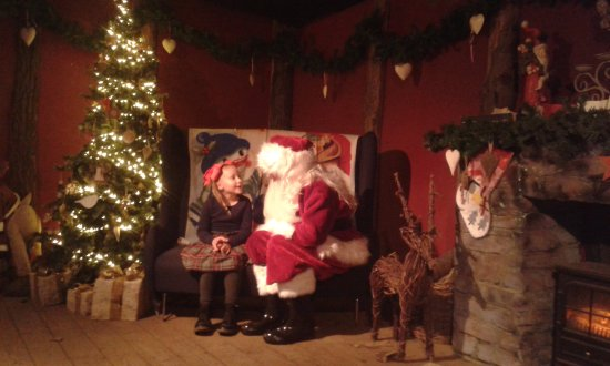 Turners Hill, UK: Speaking to santa