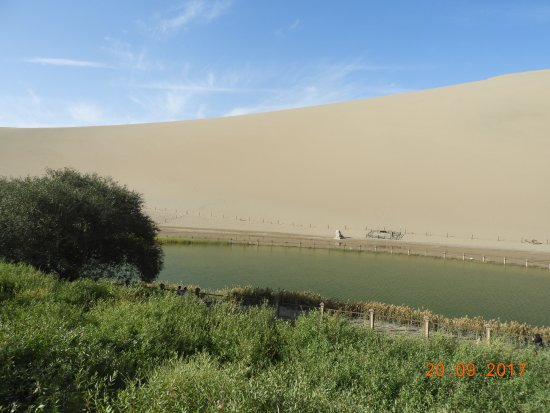 Dunhuang, China: Much diminished but still impressive lake in the middle of desert