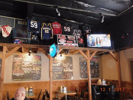 Norwalk, OH: Local Sports Bar with a multitude of Craft and Seasonal Beers.