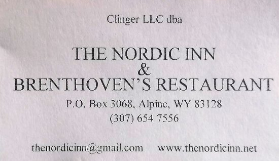 The Nordic Inn: Carte d'affaire / business card