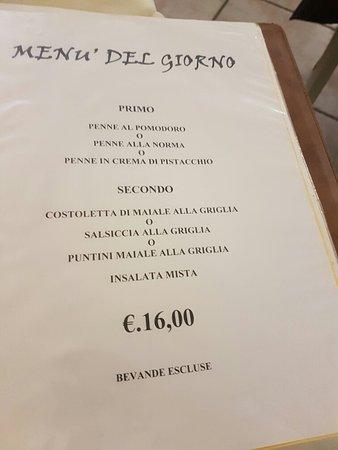 Menu Fisso 16 Euro Escluso Bevande Picture Of La Scala
