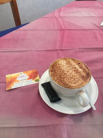 Charters Towers, Australia: A lovely coffee with mint chocolate - can't go wrong!