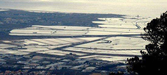 Riserva Naturale Saline Di Trapani E Paceco : Die Salinen von Erice aus gesehen