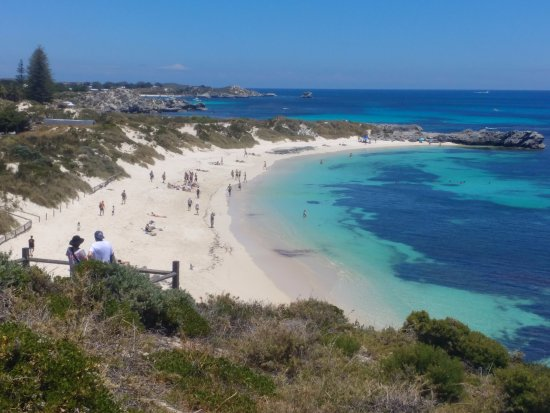 One of the beaches on Rottnest island.